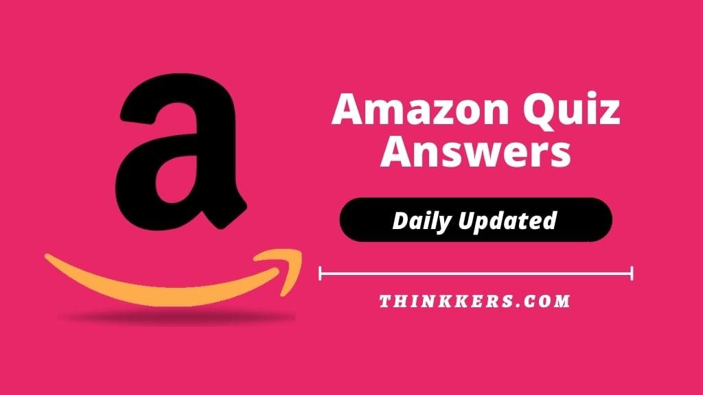 Amazon Quiz Answers Today 14 April 2020 [Win Amazon Alexa Eco Show]
