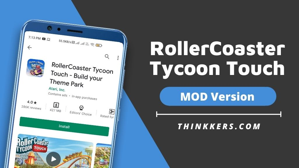 RollerCoaster Tycoon Touch Mod Apk v3.17.4 (Unlimited Tickets)